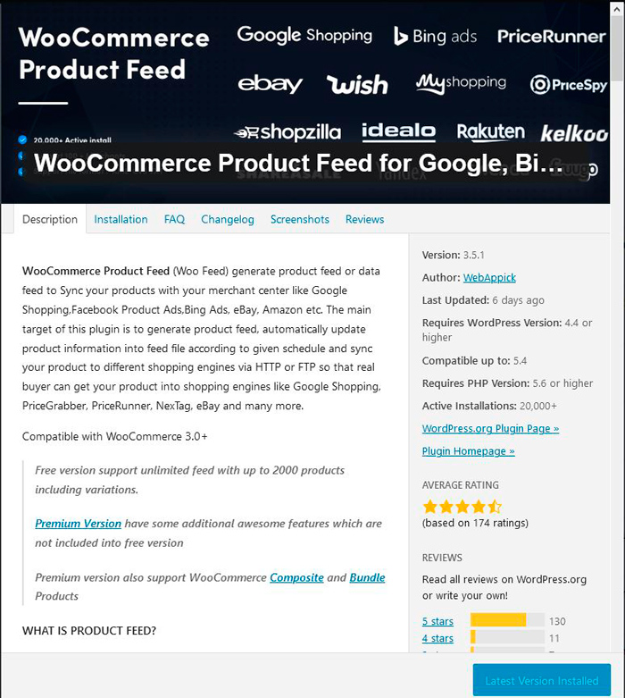 WooCommerce Google Shopping Feed Plugin